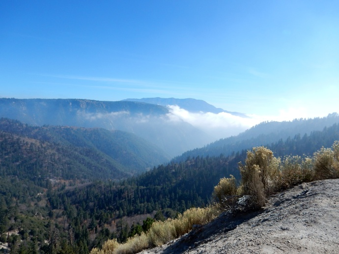 View from overlook of Rim of the World Scenic Byway
