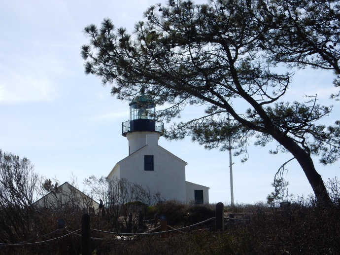Old  Point Loma lighthouse at Cabrillo