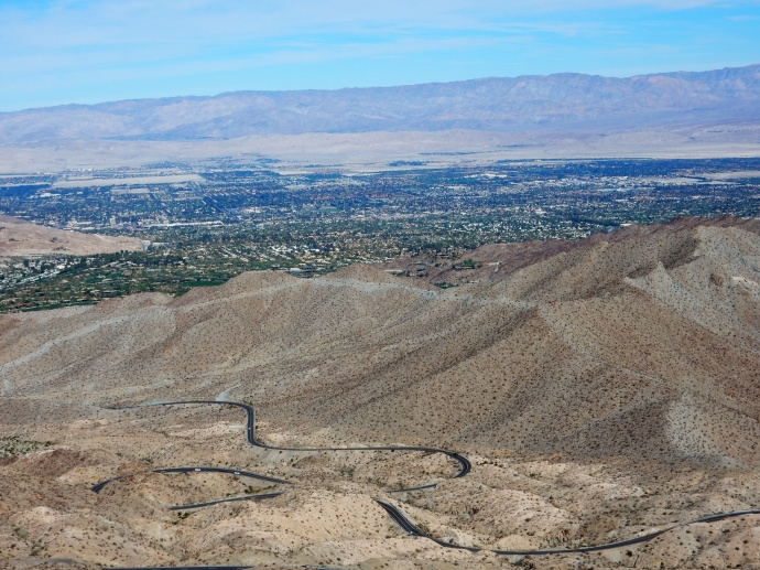 Looking down at Palm Desert CA