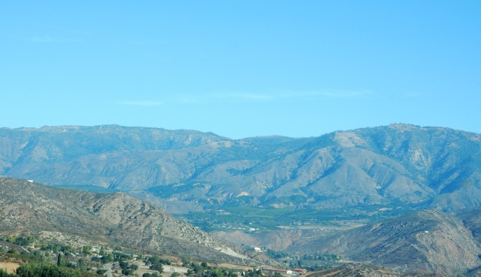 Driving to Anza Borrego Desert State Park