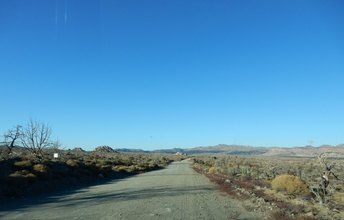 Part of the road system at Mojave