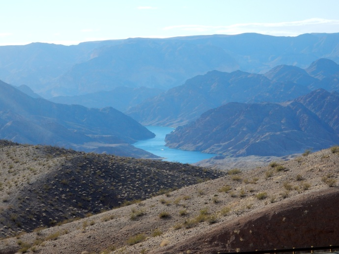 View of Colorado RIver south of Hoover Dam