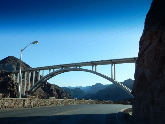 The new bridge over the Colorado River,avoiding the drive over the dam itself.