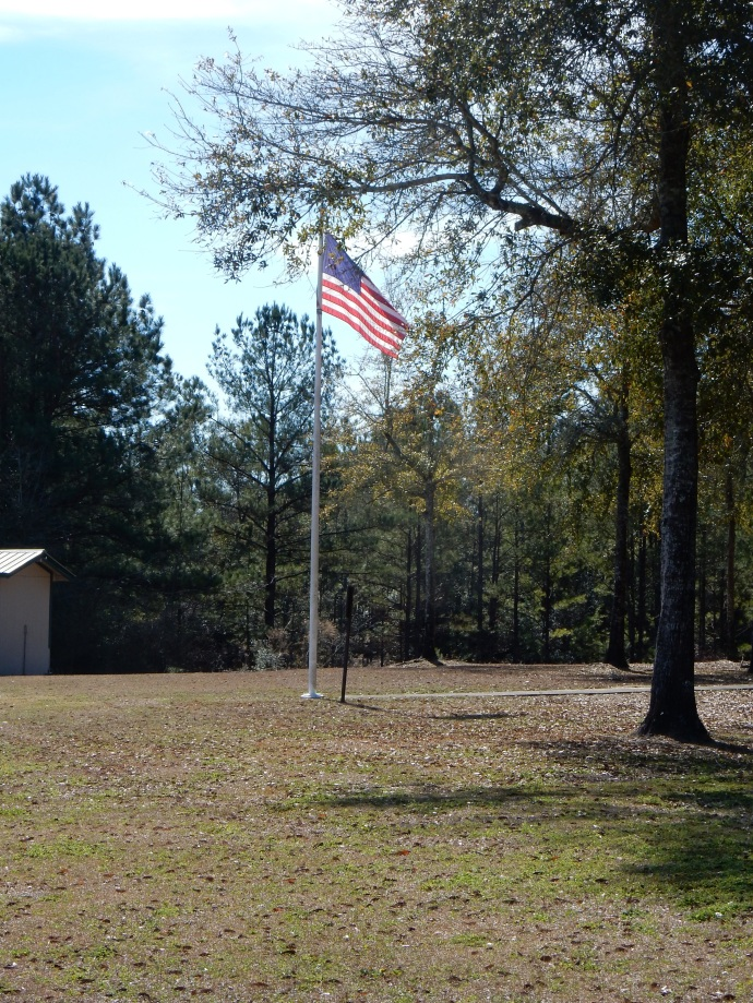 Britton Hill; Florida's highest point. Note the flag waving in the breeze generated by such a great elevation.