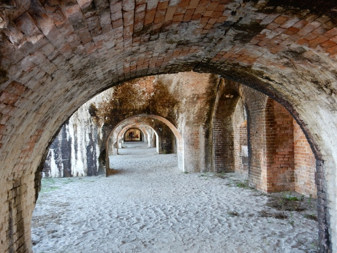 Interior arches of Fort Pickens