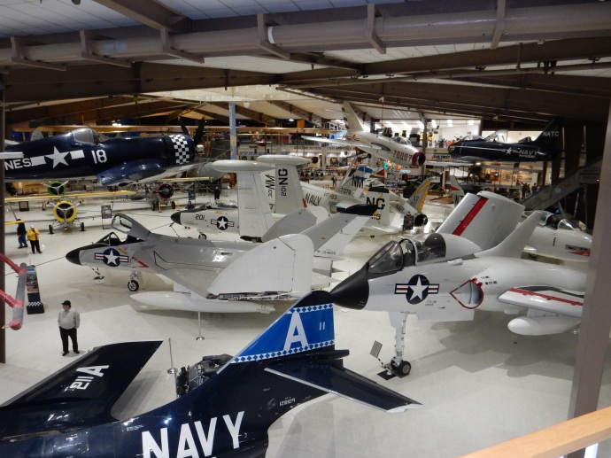 One view of a portion of the naval aviation museum