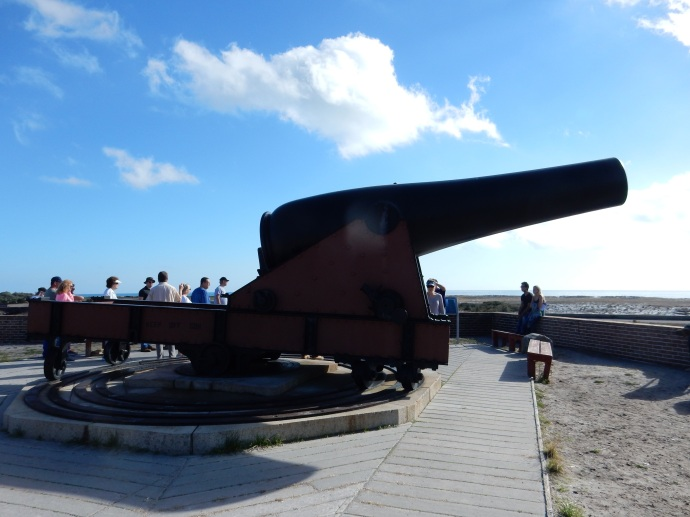 The largest cannon at Fort Perkins