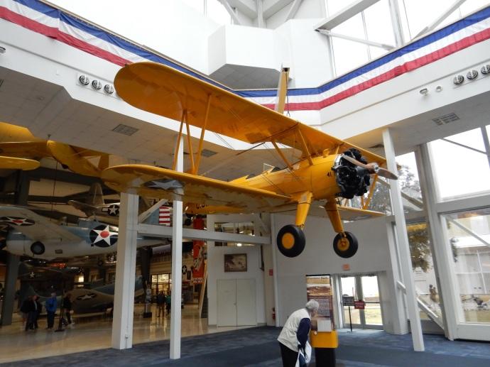 The Stearman Kaydet biplane George H.W. Bush practiced flying