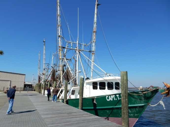 Fishing boats along the wharf
