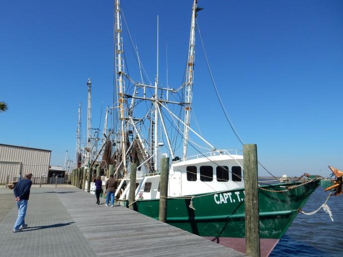 Fishing boats along the wharf