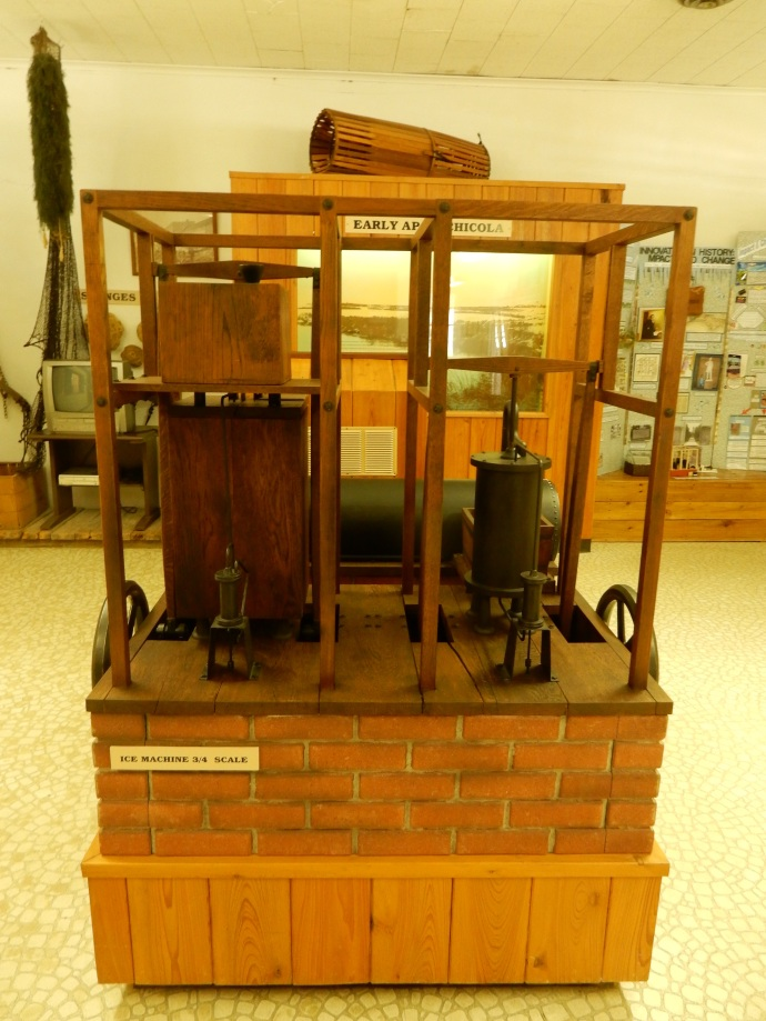 3/4 scale replica of first ice making machine