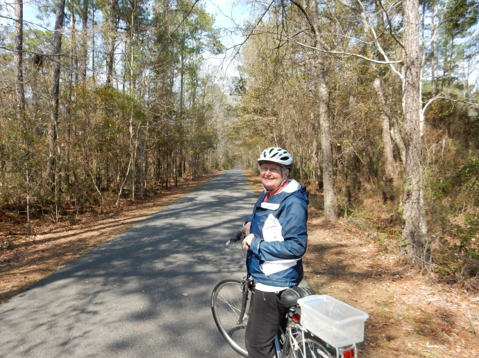 Chris near the trail head in St. Marks of the Tallahassee to St. Marks trail