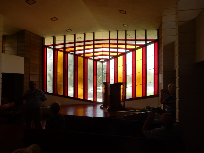 Stained Glass in Danforth Chapel, Florida Southern College