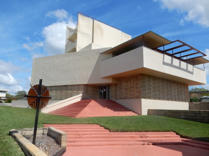 Annie Pfeiffer Chapel designed by Frank Lloyd Wright at Florida Southern College in Lakeland FL
