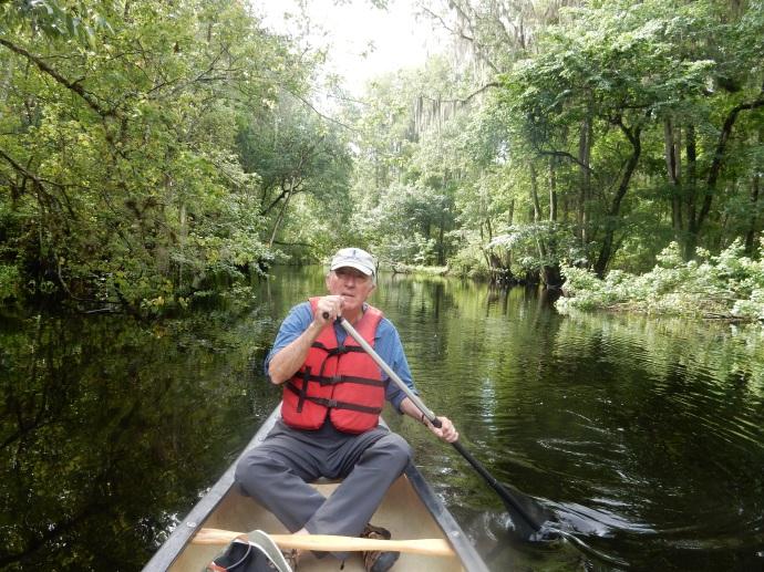 Paddling along the Hillsborough River