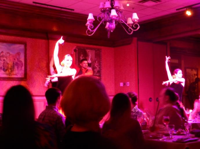 Flamenco dancers at the Columbia restaurant