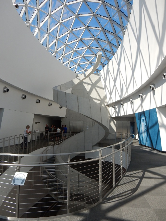 Interior of Dali Museum with staircase and atrium