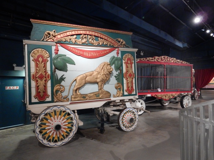One of the original Ringling circus wagons