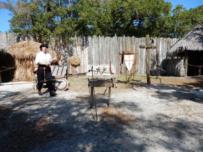 Living history presenter at De Soto National Monument
