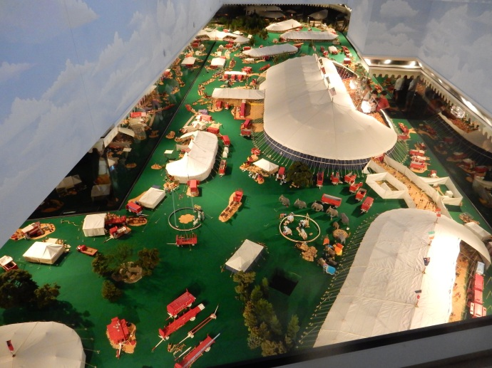 Overview of a portion of the Tibbals Howard Brothers model circus