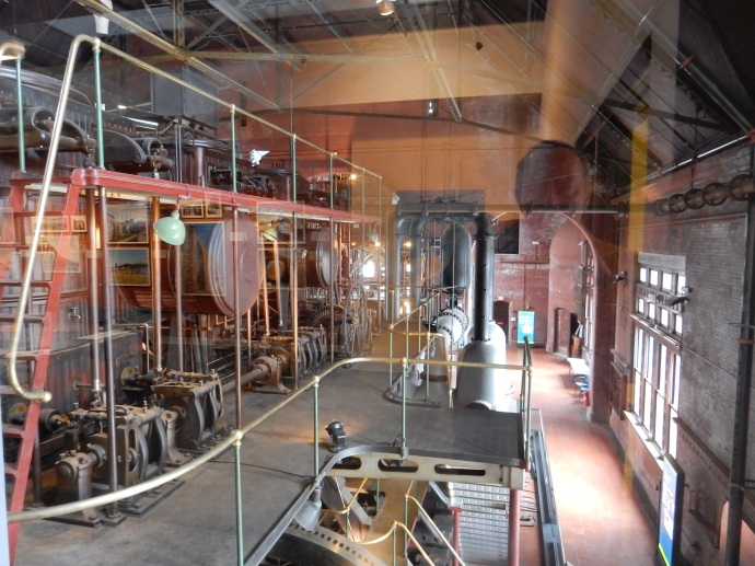 Inside the pumping station room at Waterworks Museum