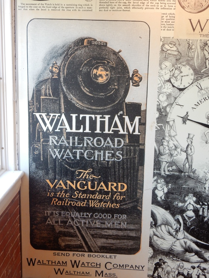 A poster for Waltham watches