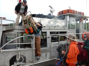 Loading gear at Grand Portage