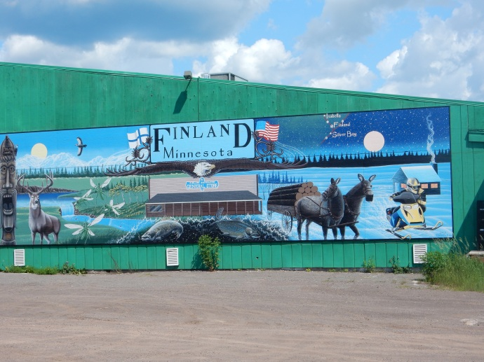 Wall mural on the Finland co-op