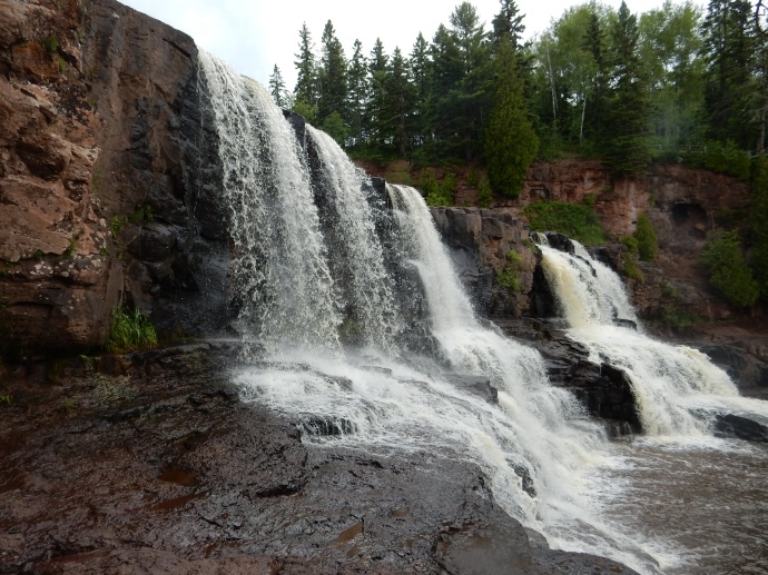One of the falls at Gooseberry Falls State Park