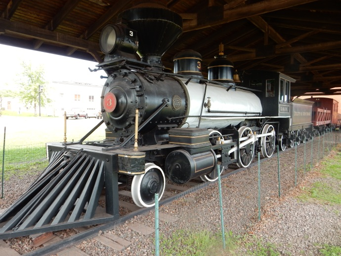 The first steam locomotive used by the railroad