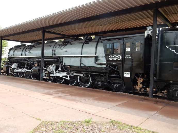 The last steam locomotive used; it had more power than the diesel ones that replaced it