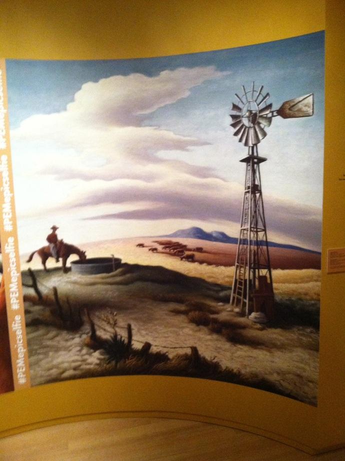 Thomas Hart Benton painting at Peabody Essex Museum in Salem MA