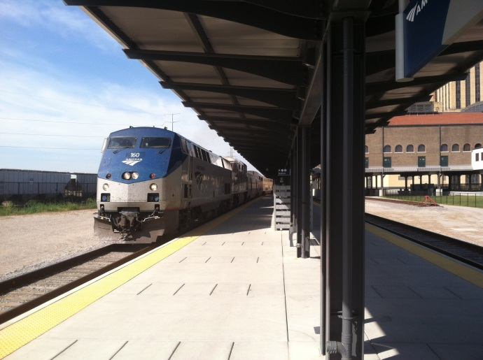 Empire Builder arriving at St. Paul's Union Depot