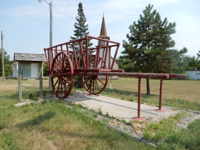 The old ox cart  used until the 1870s