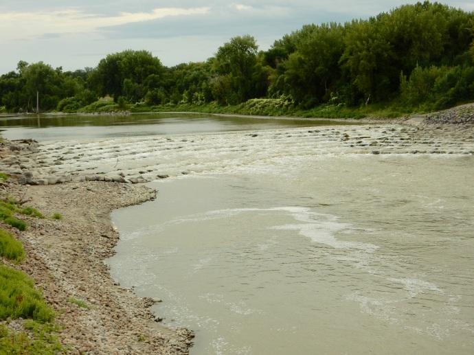 Red River rapids, no dam