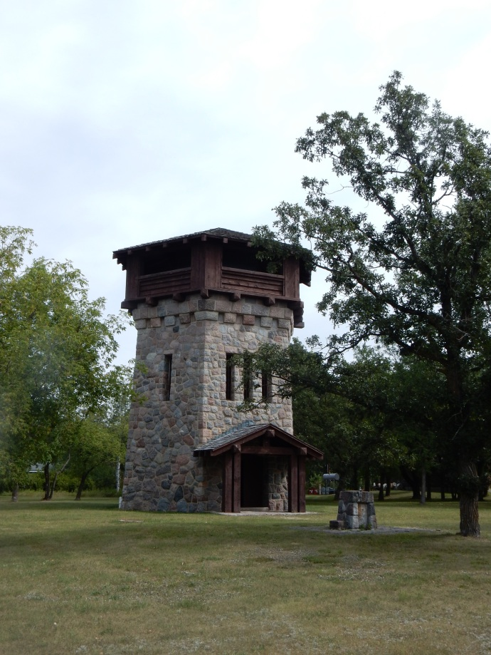 WPA constructed water tower and observation tower at Lake Bronson