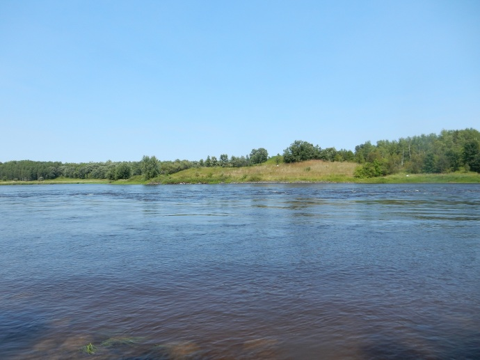 Looking north into Canada from the Rainy RIver at Franz Jevne State Park