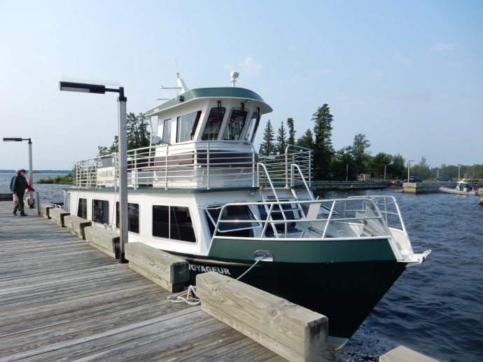 Our boat for the trip to Kettle Falls Hotel at Voyageurs National Park