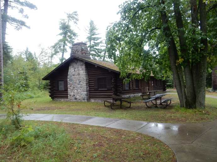 Scenic State Park shelter constructed by the CCC in the 1930s
