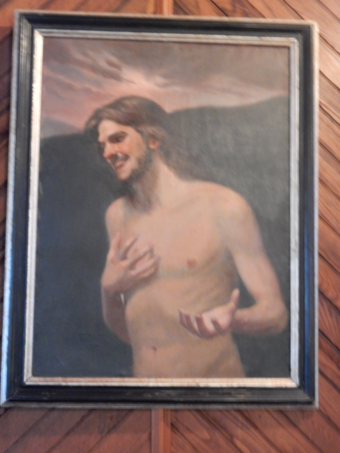 "The ""Laughing Jesus"" painting"