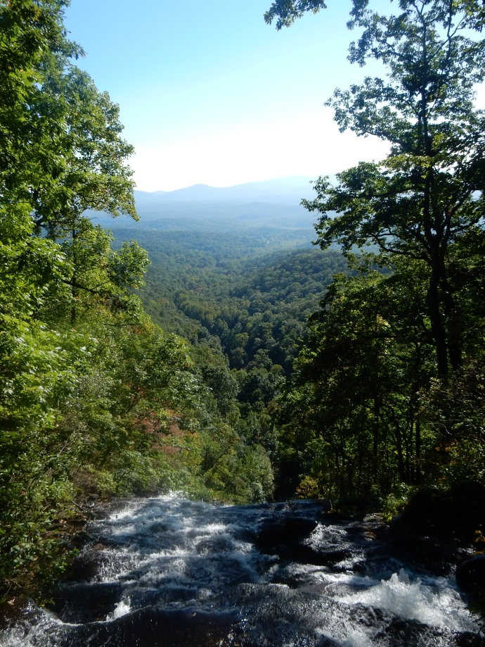 View from the top of Amicalola Falls