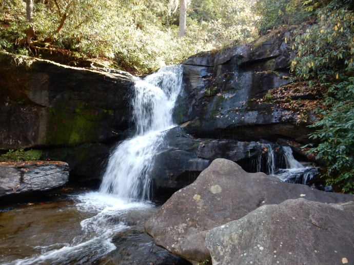 Hidden Falls in Pisgah National Forest NC