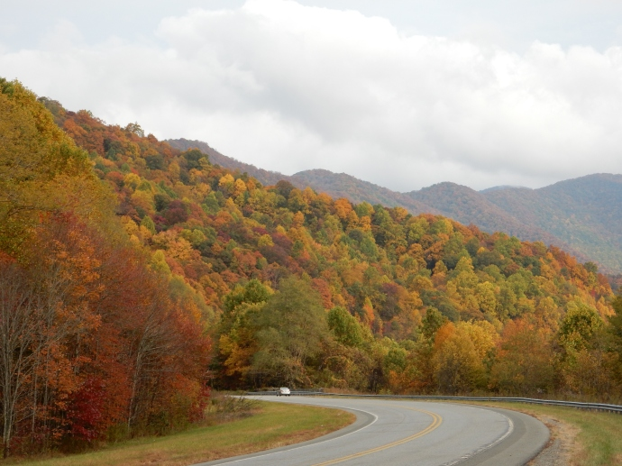 Driving through North Carolina on a stretch on easy driving.