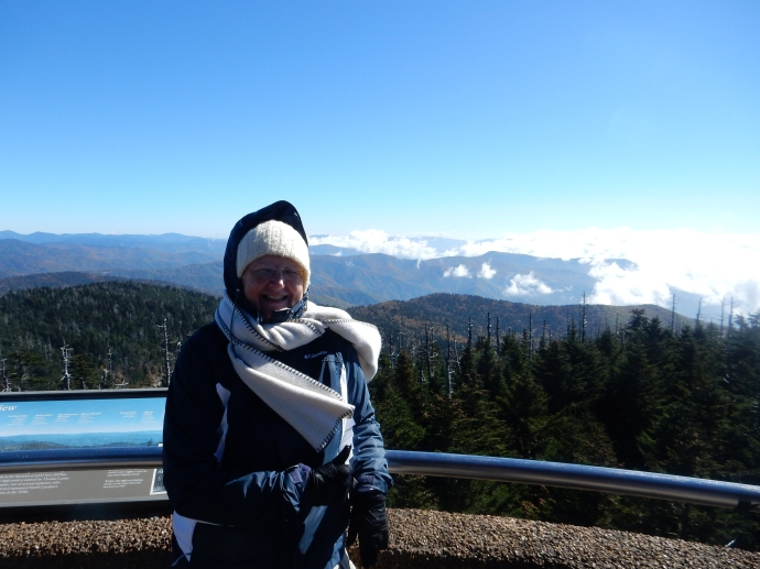 Chris at Clingmans Dome
