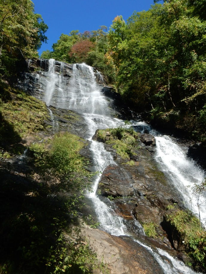 View of upper section of Amicalola Falls