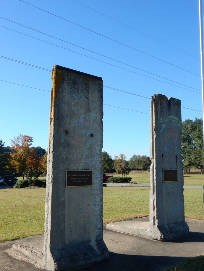 Two sections of the Berlin Wall in Spartanburg SC