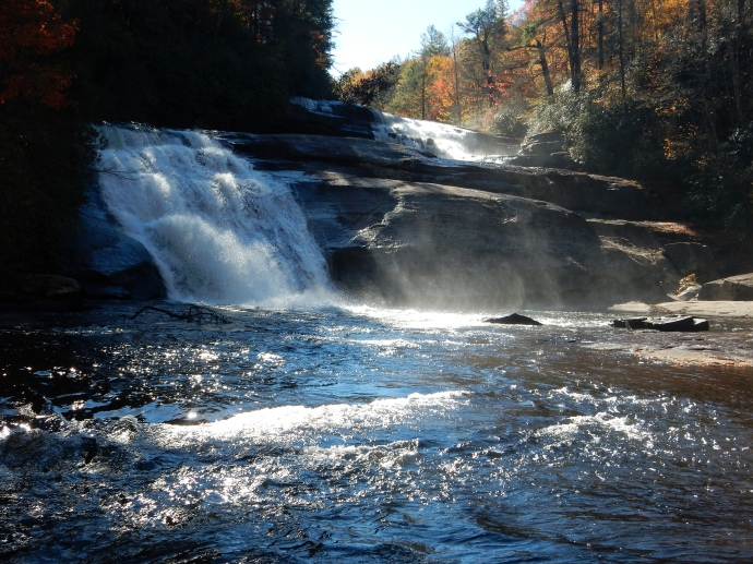 Triple Falls in Dupont State Forest NC