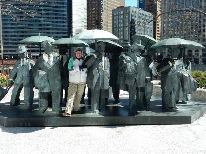 Walking around downtown Chicago