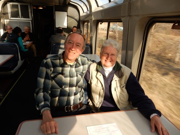 Ed and Chris in the observation car