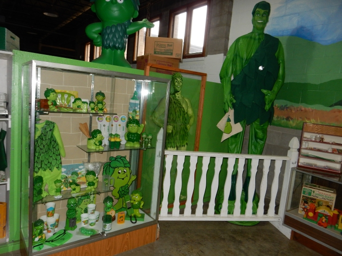Memorabilia at the Giant Museum in Blue Earth